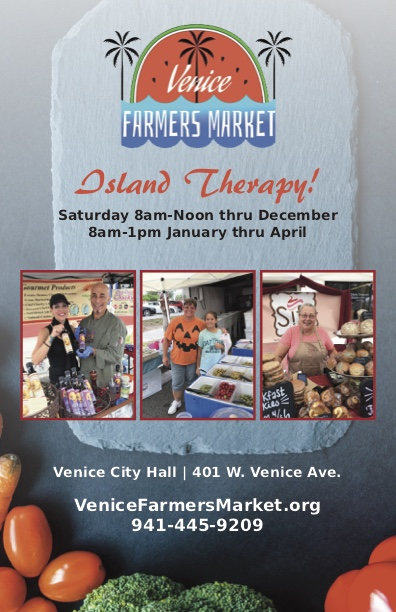 Venice Farmers Market open year around, every Saturday, starting at 8am