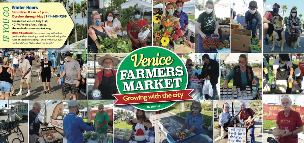 Photo collage of the Venice Farmers Market